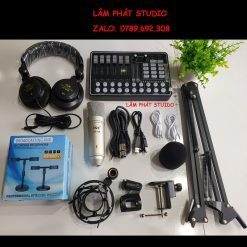 Combo Sound Card H9 Và Micro ISK AT100 - Tai Nghe ISK