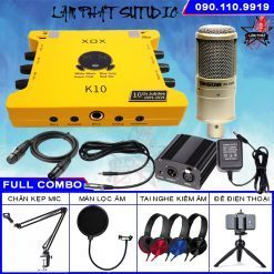 Full Combo Sound Card K10 2020 Và Micro Takstar PC-K200