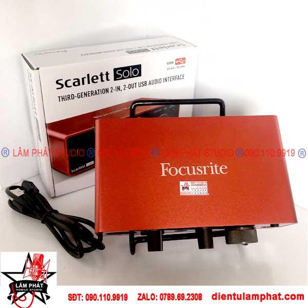 Combo Focusrite Scarlett Solo Gen 3 Và Micro MXL 990 Xịn