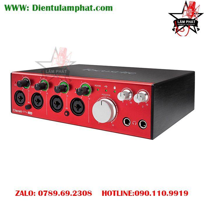 Focusrite Clarett 4Pre USB 18x8 Audio Interface LAM PHAT STUDIO 1