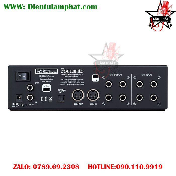 Focusrite Clarett 4Pre USB 18x8 Audio Interface LAM PHAT STUDIO 2