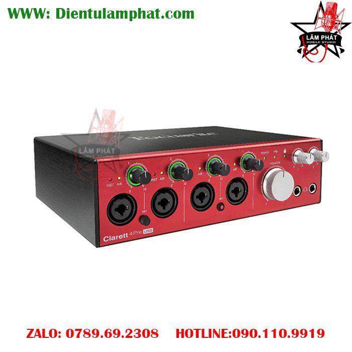 Focusrite Clarett 4Pre USB 18x8 Audio Interface LAM PHAT STUDIO 3