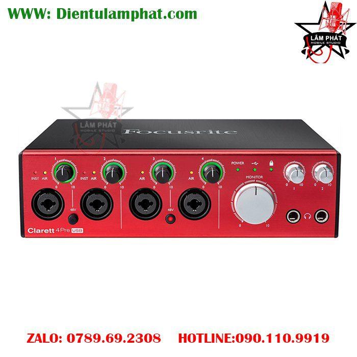 Focusrite Clarett 4Pre USB 18x8 Audio Interface