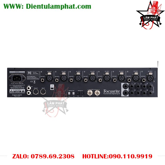 Focusrite Clarett 8PreX Thunderbolt Audio Interface lam phat studio 2