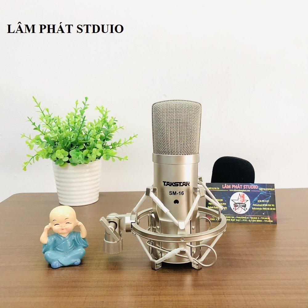 cách dùng micro thu âm, Combo Sound Card Icon Upod Và Micro Takstar SM-16M